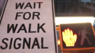 Wait for walk signal in Time Square video