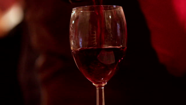 Waiter Pouring Red Wine video