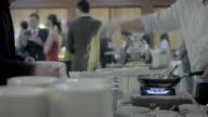 Waiter serving Spaghetti video