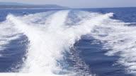 HD SUPER SLOW MO: Wake Of A Motor Boat video