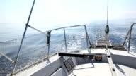 Wake of a Sailing Boat video