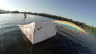 wakeboarder jump with springboard video
