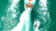 Wakesurfing view from above video