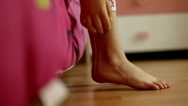 waking up children-slow motion video video