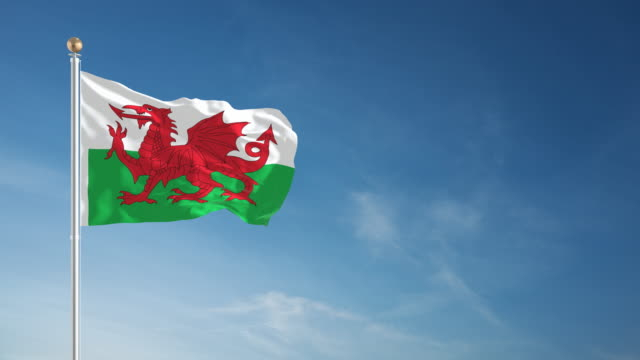 4K Wales Flag - Loopable video