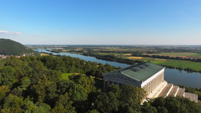 Walhalla Memorial Above The Danube River Flyover video
