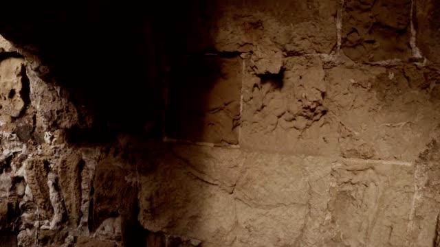 POV Walk along the ruins corridors leading to Roman baths antique town Salamis east Cyprus Famagusta video