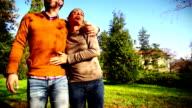 Walk in a park. video