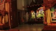 Walk past the deities in  Hindu Vaisnava temple. video