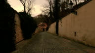 POV Walk Through an Old Carriageway  in Prague, Czech Republic (Czechia) video