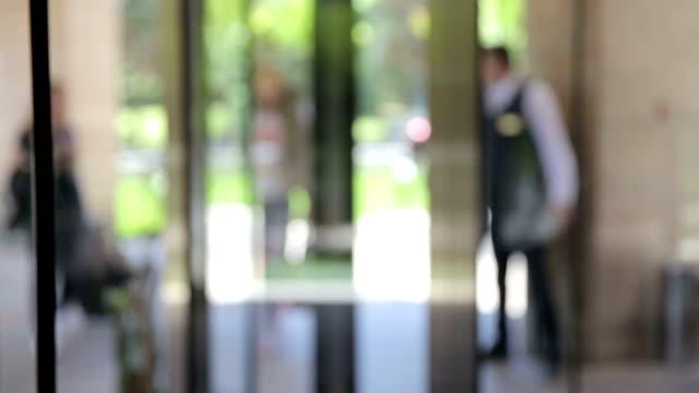 Walk through revolving door video