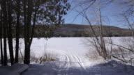 Walk to the frozen lake video