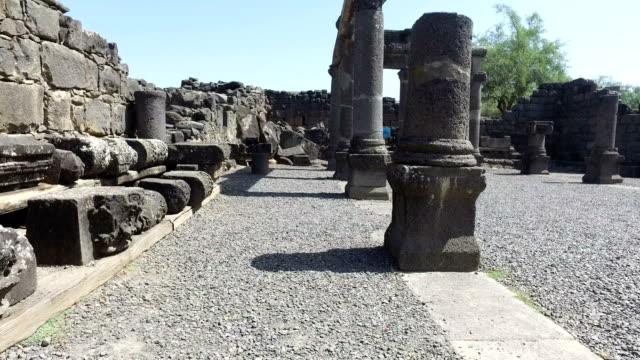 Walking Among Old Pillars in City Ruins video
