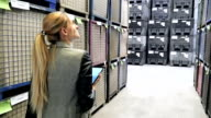 Walking and examining the warehouse stocks video
