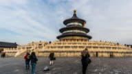Walking around the Temple of Heaven Palace in the Temple of Heaven, Beijing, China. video