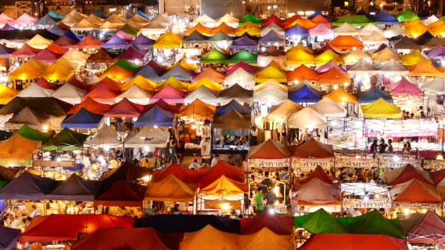 walking at Night market video