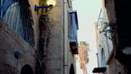 Walking between two ancient houses in eastern town video