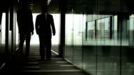 Walking business meeting video