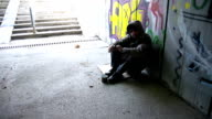 HD: Walking By A Homeless Person video
