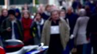 Walking crowd of people video