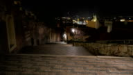 Walking Down the Prague Castle Stairs at Night video