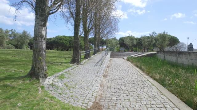 Walking in the Edward VII Park in Lisbon video
