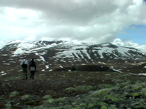 Walking in the mountains video