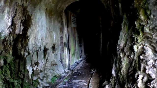 Walking into old abandoned mine video