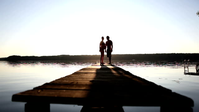 Walking on a pier video