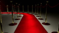 Walking on a red carpet to achieve success. video
