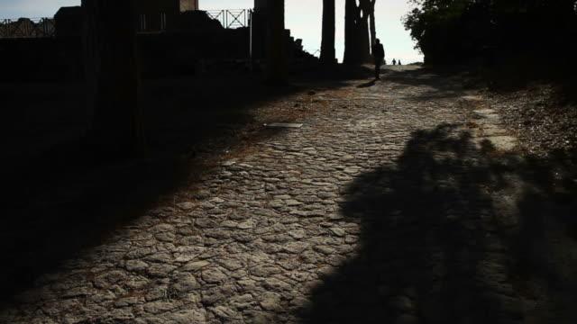 Walking on Ancient Roman Pathway video