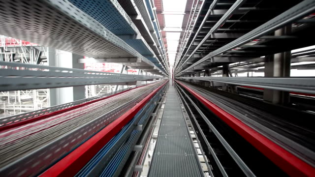 Walking on factory platform video
