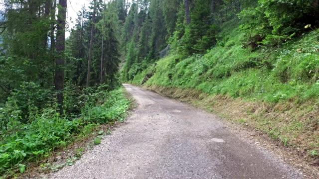 Walking on mountain road - Dolomites - Italy video
