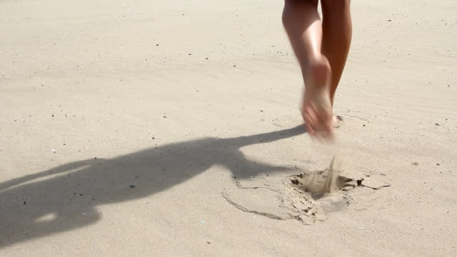 Walking on sand video