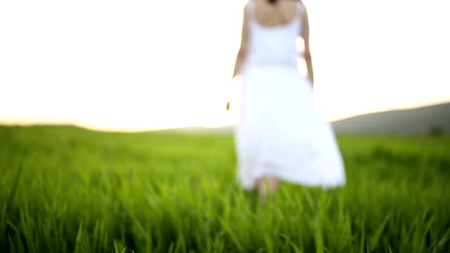 Walking on the soft grass video