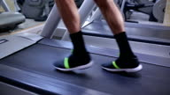 Walking on treadmill video