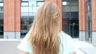 Walking Outdoor Girl, Rear View video