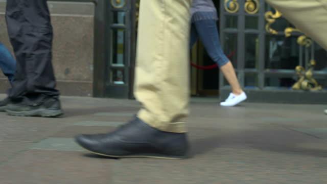 Walking People On The City Street video