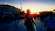 Walking Peoples at Istanbul. video