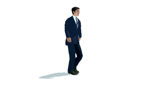 Walking politician 3d animation video