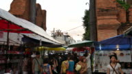 Walking street in Chiang Mai, Thailand video