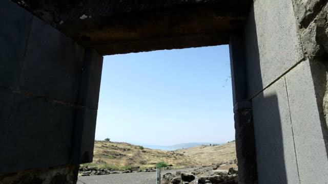 Walking Through Ancient Ruined Synagogue Entrance video