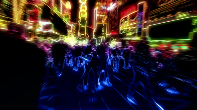 Walking through New York. Psychedelic. video