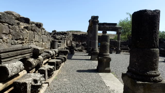 Walking Through Old Synagogue Ruins video