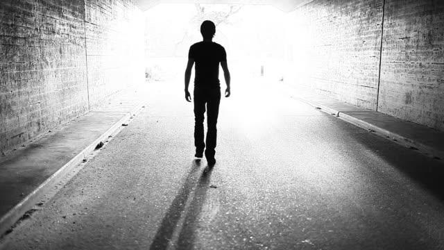 Walking to the light (heaven) men. video