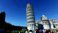 Walking with Tourists at the Leaning Tower of Pisa video