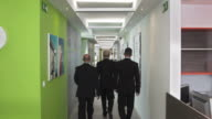 HD DOLLY: CEO Walking With Two Executives video