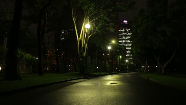 Walkway at night video