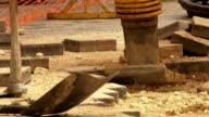 Walkway / road construction video