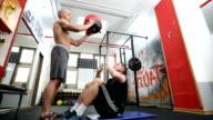 Wall ball training video